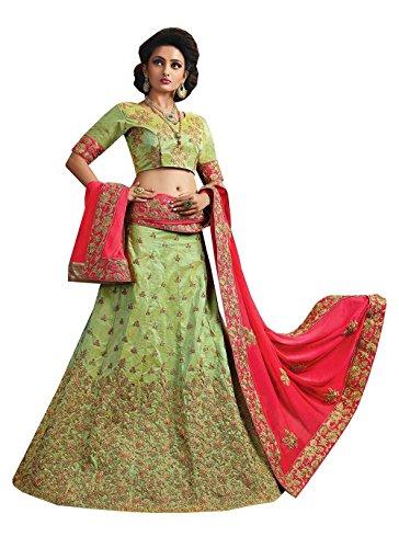 PCC Womens Mint Green Striking Lehenga Choli With Embroidery Work 84047
