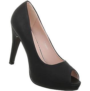 Damen Schuhe Pumps Peep Toe Stiletto High Heels Metallic Party Schuhe Glitzer Abendschuhe Hochzeitsschuhe Pfennigabsatz