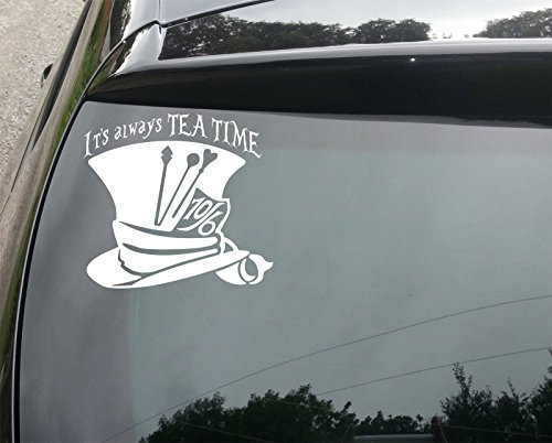 Wonderland Mad Hatter Tea Time Vinyl Car Decal (External Fitting)