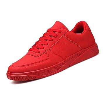 LVZAIXI Schuhe Plate Schuhe Herrenbekleidung Senior Mittelschule Junior High School Student Rot Gezeiten Männer Schuhe gemütlich ( Farbe : Schwarz , größe : EU42/UK8.5/CN43 )
