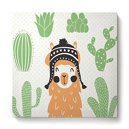 Libaoge Wall Print Art West Cowboy HD Prints, Camel Cactus Illustration Poster Art Home Gallery Wrapped Paintings On Canvas Artwork - (Stretched by Wooden Frame,Ready to Hang, 16
