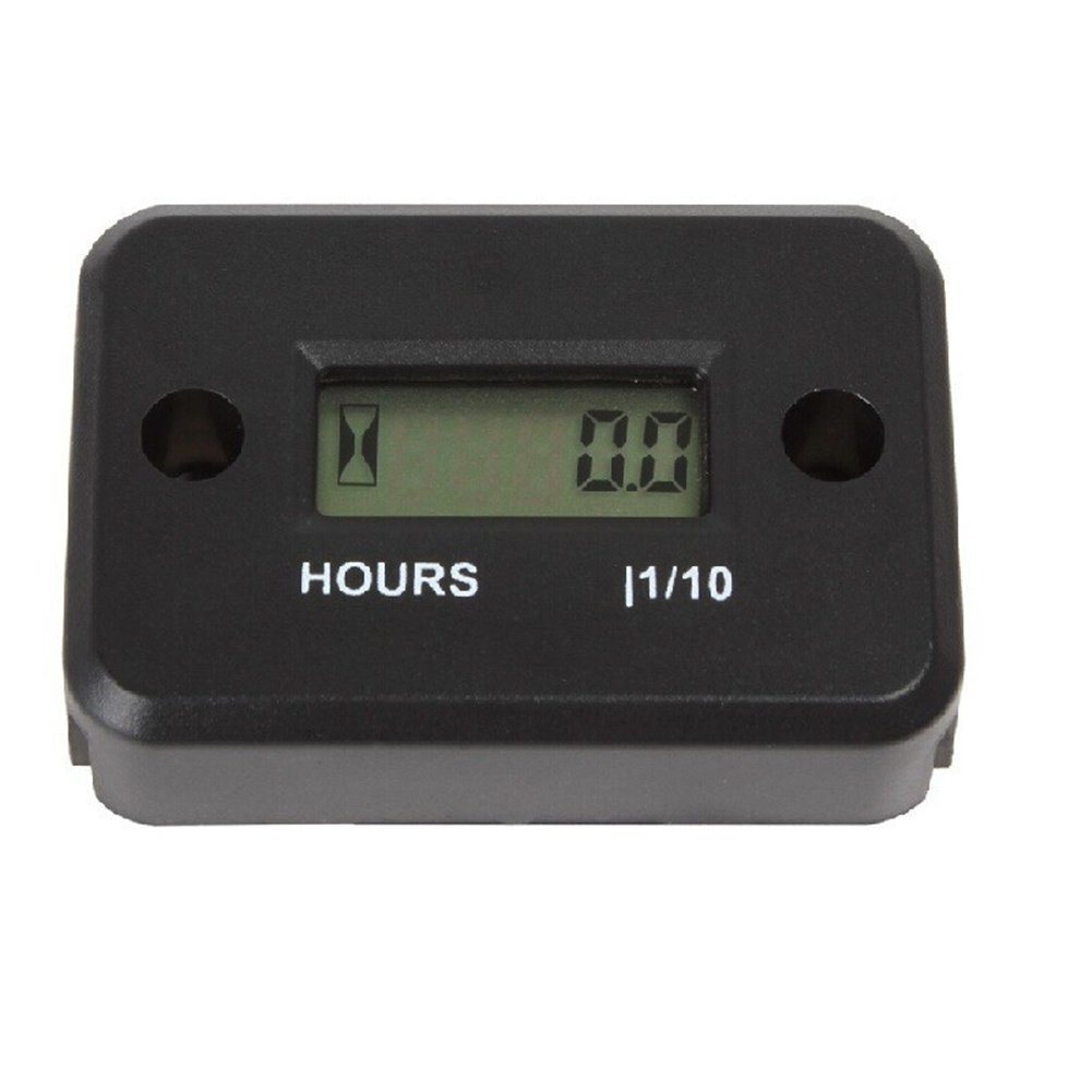 Orange Aimila Digital Engine Hour Meter Inductive LCD Waterproof Hourmeter for Motorcycle