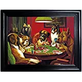 DOGS PLAYING POKER FRAMED Holographic Wall Art-POSTERS That FLIP and CHANGE images-Lenticular Technology Artwork--MULTIPLE PICTURES IN ONE--HOLOGRAM Images Change--by THOSE FLIPPING PICTURES