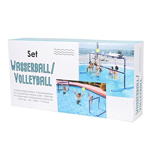 Wassersport-Set Bola de Agua Volleyball Wasserballtor Portería ...