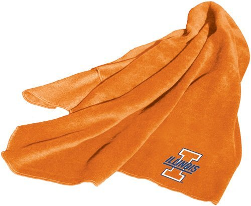 Illinois Fighting Illini Orange Fleece (Fighting Illini Blanket)