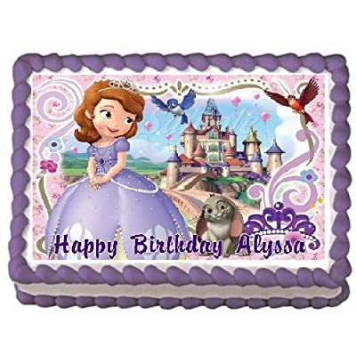 Sofia the First #4 Edible Frosting Sheet Cake Topper - 1/4 Sheet: Kitchen & Dining