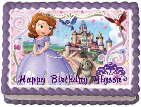 Remarkable Amazon Com Sofia The First 4 Edible Frosting Sheet Cake Topper Funny Birthday Cards Online Overcheapnameinfo