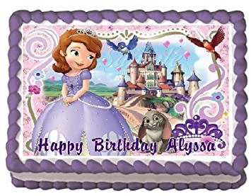Amazon Com Sofia The First 4 Edible Frosting Sheet Cake Topper 1