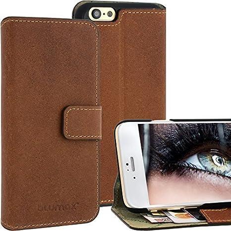 Blumax Wallet Case Ledertasche Für Apple Iphone 6 Mit
