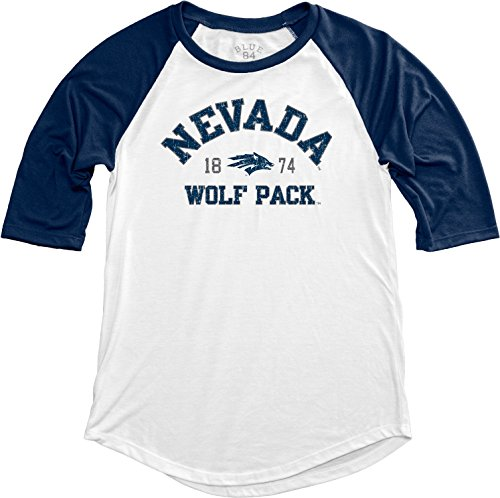 NCAA Nevada Wolfpack Adult Women NCAA Women's Teagan Baseball Tee,Medium,Navy