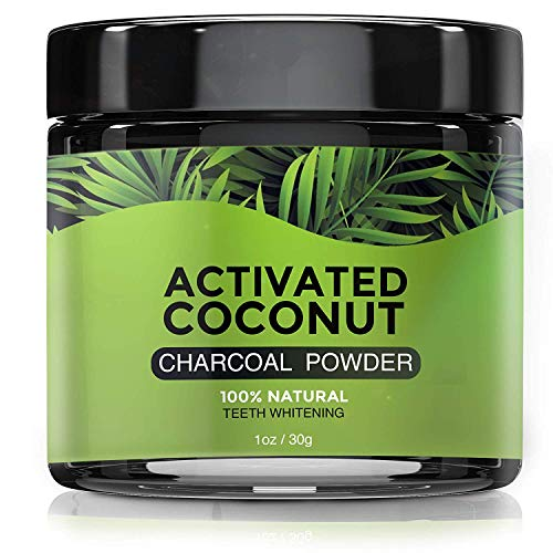 (Natural Charcoal Teeth Whitening Powder - Coconut Activated Charcoal - Best Tooth Whitener For Sensitive Teeth - Naturally Whitens Teeth - Mint Flavor For Fresh Breath )