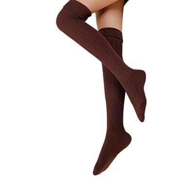 d304004b26895 Chaussettes Femme, Kolylong® Femmes Winter Girl Cours Genou Leg Warmer  Souple Crochet Knit Sock Legging (Cafe): Amazon.fr: Vêtements et accessoires