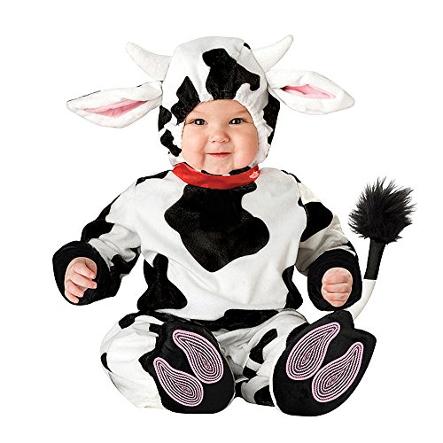XXOO Toddler Baby Infant Dots Cow Halloween Dress Up Costume Outfit]()