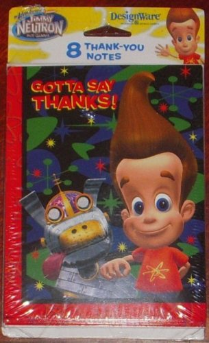 Jimmy Neutron Thank You Notes w/ Envelopes (8ct) -