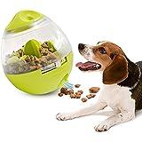 Koalad Tumbler Pet Food Ball Interactive Dog Treat Ball Funny Cat Foraging Toy IQ Treat Food Dispensing Ball Pet Bite Toys Green