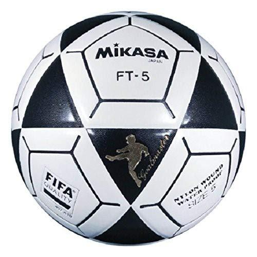 Mikasa FT5 Goal Master Soccer Ball (Black/White, Size 5)