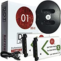 2x DOT-01 Brand Sony HDR-CX440 Batteries and Dual Slot USB Charger for Sony HDR-CX440 Camera and Sony CX440 Battery and Charger Bundle for Sony M8 M8