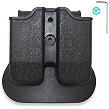 Tactical Magazine Holder The Ultimate Double Stack 9mm /.40 cal Magazines,Elutong New Arrival Hunting Belt Case Holster Pouch Cartridge Clip Holder Gun with Paddle Pouch Balck(Including Wrench)