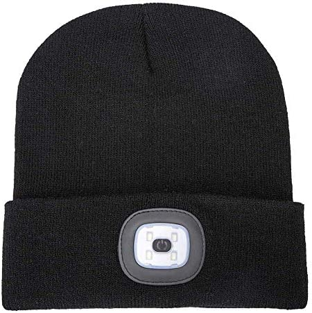Ultimate Beanie Brite USB Rechargeable Battery 100 Lumens Keep Warm Stay Visible