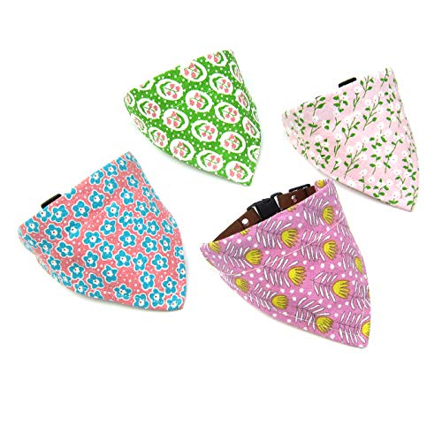 Alfie Pet by Petoga Couture - Dexter 4-Piece Set Bandana Collar for Dogs and Cats - Size: -