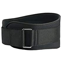 Weight Lifting Belt for Men and Women - Workout Belt 6 inch Black Lumbar Support for Squat, Crossfit, Olympic Lifting, Powerlifting, Deadlift Training