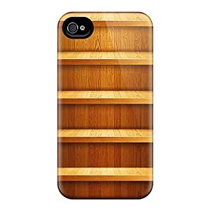 Durable Defender Case For iphone 5c Tpu Cover(wood Shelf Illustration)