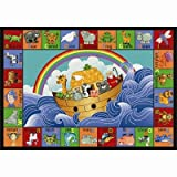 Educational Faith Based Noah's Alphabet Animals Kids Rug Rug Size: 10'9'' x 13'2''