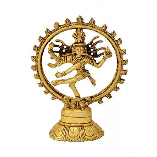 Gangesindia Hindu God of Dance Natraja Brass Statue