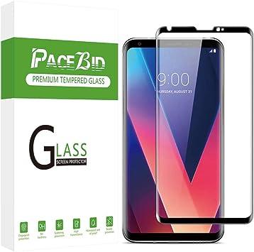 PaceBid Protector de Pantalla para LG V30 / V30 Plus, 3D Cobertura ...