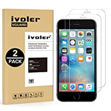 [2 Pack] iPhone 6 6S Screen Protector- iVoler [3D Touch Compatible] iPhone 6 / 6S 4.7 Inch Premium Tempered Glass Screen Protector- 0.2mm Ballistics Glass, 2.5D Round Edge, 9H Hardness Featuring Anti-Scratch, Anti-Fingerprint, Bubble Free- Lifetime Replacement Warranty