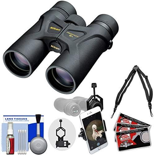 Nikon Prostaff 3S 8×42 Waterproof Fogproof Binoculars with Case Harness Smartphone Adapter Cleaning Kit