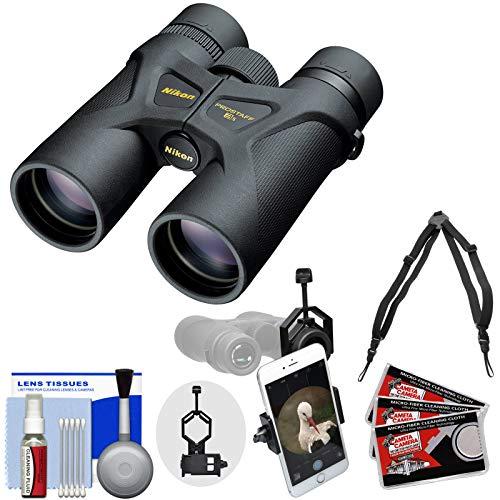 Nikon Prostaff 3S 8x42 Waterproof/Fogproof Binoculars with Case + Harness + Smartphone Adapter + Cleaning Kit