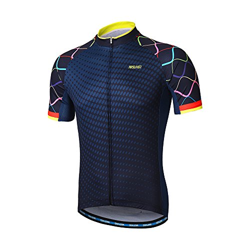 ARSUXEO Men's Cycling Jersey Short Sleeves