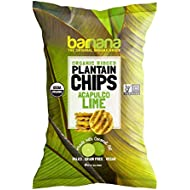 Barnana Organic Plantain Chips - Acapulco Lime - 5 Ounce - Barnana Salty, Crunchy, Thick Sliced Snack - Best Chip For Your Everyday Life - Cooked in Premium Coconut Oil