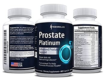 Prostate Support Supplement that Reduces Frequent Urination | Finally Sleep Longer Without Interruptions | Natural Complex with Saw Palmetto (DHT Blocker), Beta Sitosterol & Pygeum | 60 Capsules