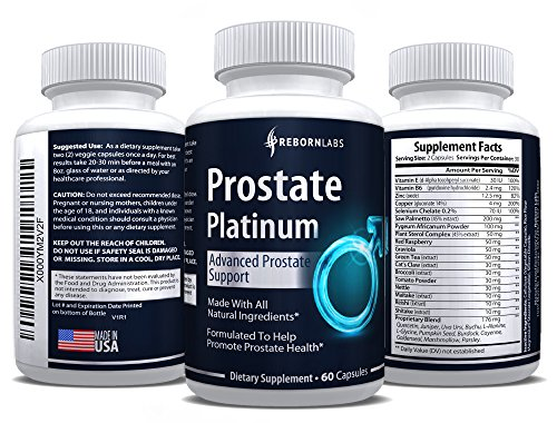 Prostate Support Supplement with Saw Palmetto Extract | Reduces Frequent Urination & Promotes Healthy Flow | Natural DHT Blocking Complex with Beta Sitosterol & Pygeum | 60 Capsules