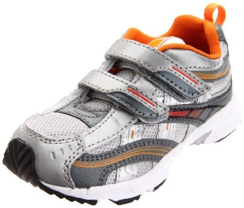 Tsukihoshi CHILD35 Flame Sneaker ,Silver/Orange,8 M US Toddl