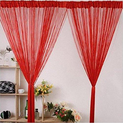 Lelinta 1m x 2m Decorative Door String Curtain Beads Wall