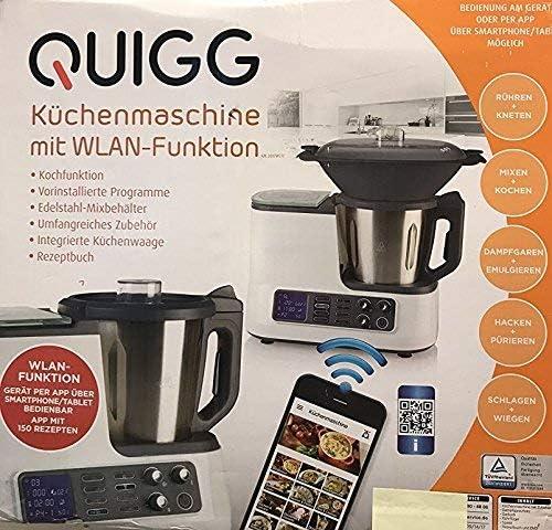 Quigg Robot de cocina con función de Wifi Función de cocción Báscula Smartphone aplicación: Amazon.es: Hogar
