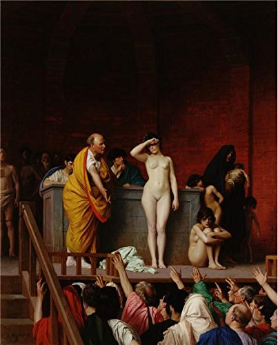 Slave 4 U Costumes (Oil Painting 'The Slave Market In Rome,1884 By Jean-Leon Gerome' Printing On Polyster Canvas , 20x25 Inch / 51x63 Cm ,the Best Laundry Room Decor And Home Gallery Art And Gifts Is This Best Price Art Decorative Canvas Prints)