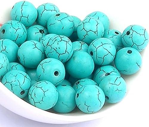 Glasperlen Crackle türkis klar 8 mm 100 Stück Schmuck Basteln Perlen V255