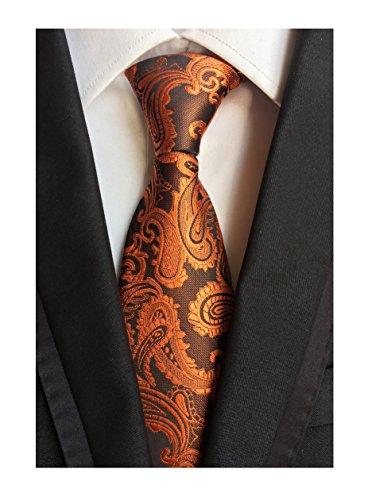 Big boy Men Brass Orange Extra Long Ties Unique Design Fashion Fun Party Necktie from Ctskyte