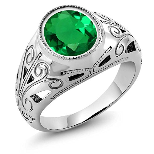 925 with green gem - 5
