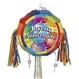 Joyeux Anniversaire Party Supplies - 27276 - Pinata Joyeux Anniversaire avec Ficelle  à Tirer