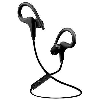 Auriculares inalámbricos de una sola oreja Auriculares metálicos de gancho para la oreja Botón de control