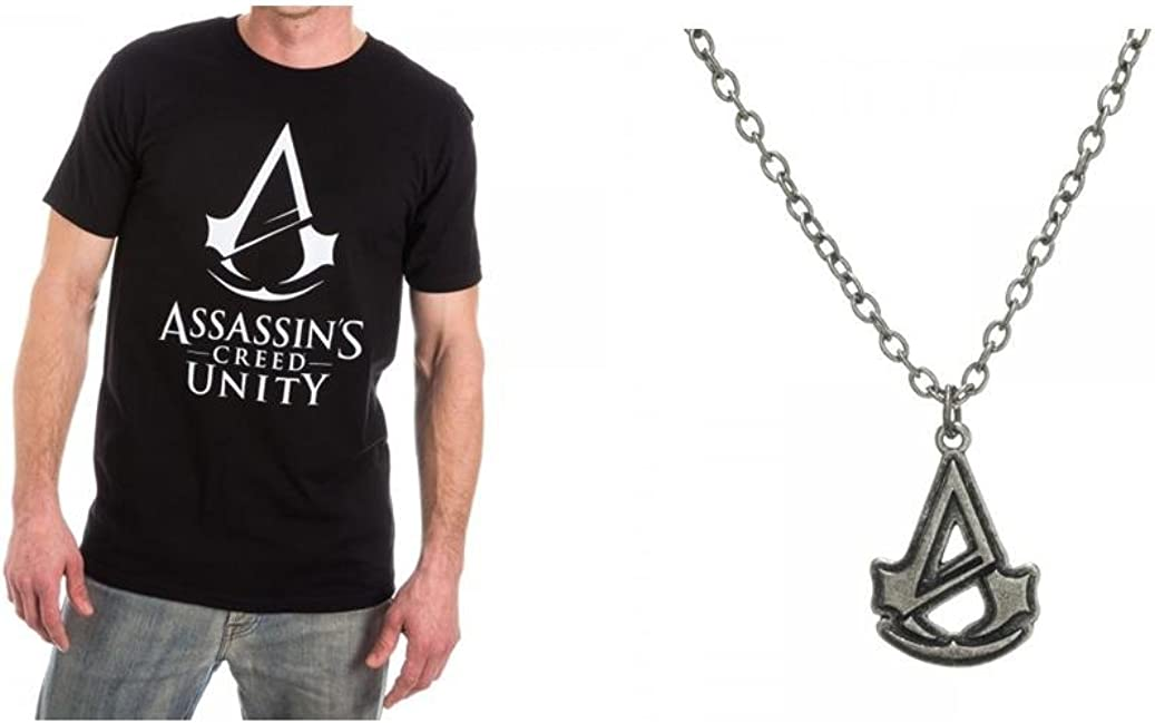 Amazon Com Assassins Creed Unity Logo Mens T Shirt Small And