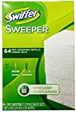 dry broom - Swiffer Sweeper Dry Sweeping Cloths, Mop and Broom Floor Cleaner Refills Unscented, 64 Count, 2 Pack, 128 Total Wipes