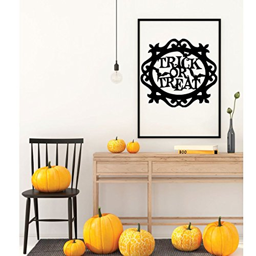 Halloween Wall Decoration - Trick Or Treat - Fall Vinyl Decals for the Home, Office Or Classroom Decor]()