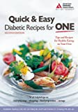 Quick and Easy Diabetic Recipes for One, Kathleen Stanley and Connie Crawley, 158040264X