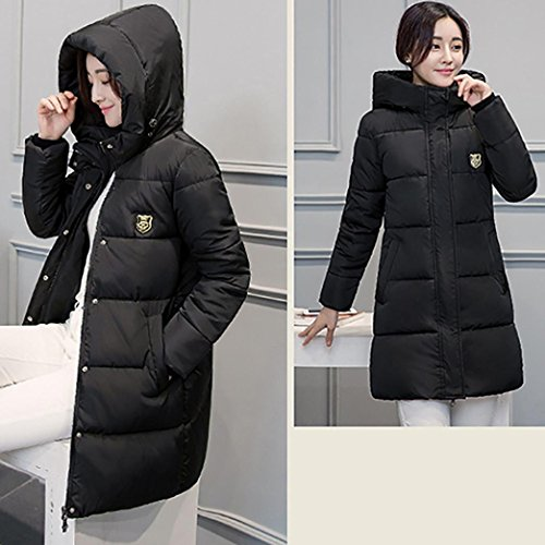 Down Winter Xinan Overcoat Women Jacket Slim Thicker Black Lammy Casual Solid Coat 4YnaqSdBqw